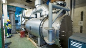 The condenser are used to condensate superheated steam of 400°C.