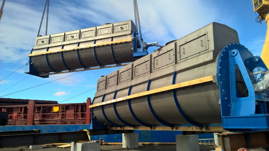 Driers delivered to Island for fish meal production