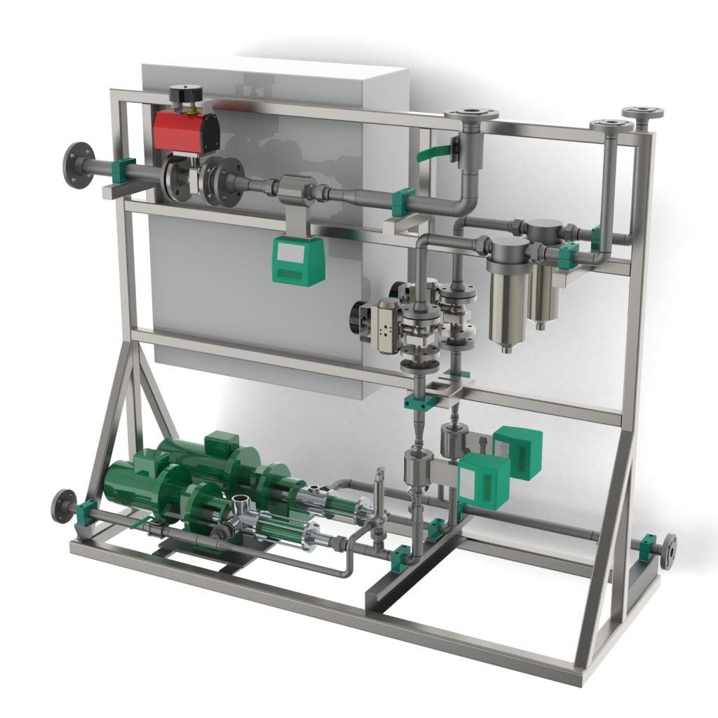 Mixing unit for BOP fluid