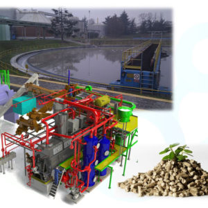 Sludge Plant for drying of bio waste
