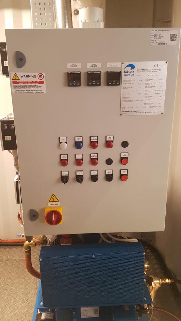 Steam Generator control panel
